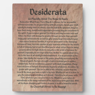 The Desiderata Poem on The Red Planet Stone Plaque