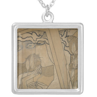 The Desire and the Satisfaction, 1893 Silver Plated Necklace