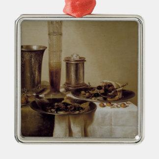 The Dessert, 1637 Silver-Colored Square Decoration