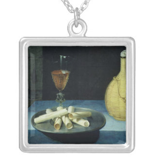 The Dessert of Wafers Silver Plated Necklace