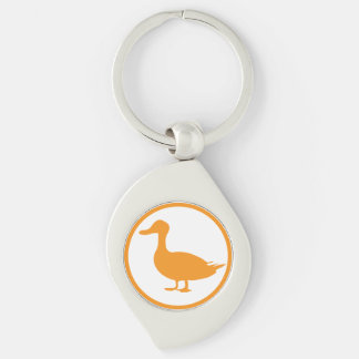 "The ""destroyer of quackery"" badge Silver-Colored swirl key ring"