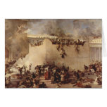 The Destruction Of The Temple Of Jerusalem Greeting Card