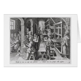 The Development of Printing, plate 5 from 'Nova Re Card