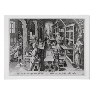 The Development of Printing, plate 5 from 'Nova Re Poster