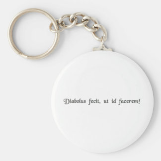 The devil made me do it! basic round button key ring