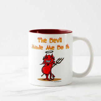 The Devil Made Me Do it! Two-Tone Mug