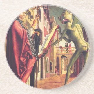 The Devil Offers the Book of Vices to Saint Coaster