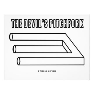 The Devil s Pitchfork Optical Illusion Personalized Flyer