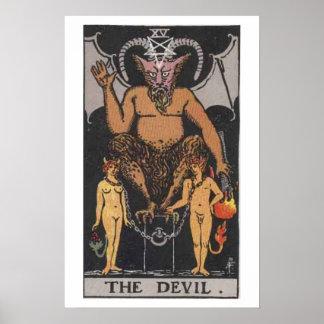 The Devil Tarot Card Poster