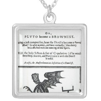 The Devil turn'd Round-Head', c.1642 Silver Plated Necklace