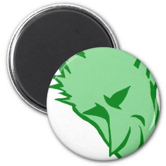 The Devilish Green Elf 6 Cm Round Magnet