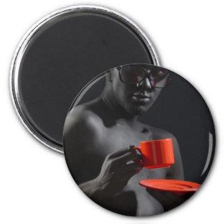 """The Devilish Saint"" Refrigerator Magnet"