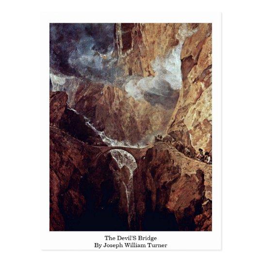 The Devil'S Bridge By Joseph William Turner Postcard