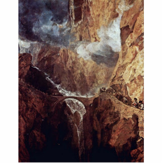 The Devil'S Bridge St. Gotthard By Turner Joseph M Acrylic Cut Outs
