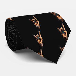 The Devils Horns hand gesture Tie