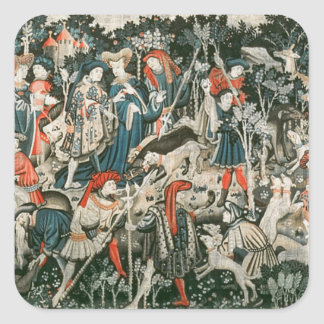 The Devonshire Hunting Tapestries Square Sticker
