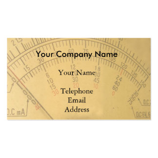 The Dial of a Vintage Amp Meter Pack Of Standard Business Cards