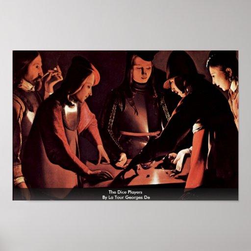 The Dice Players By La Tour Georges De Print