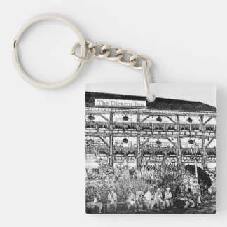The Dickens Inn Pub London Single-Sided Square Acrylic Key Ring