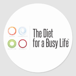 The Diet for a Busy Life Motivational Sticker
