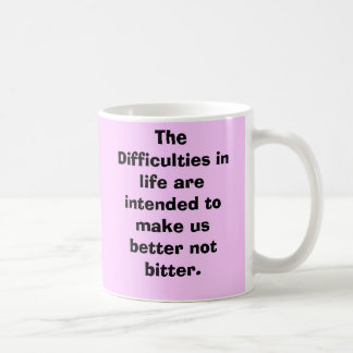 The Difficulties in life are intended to make u... Basic White Mug