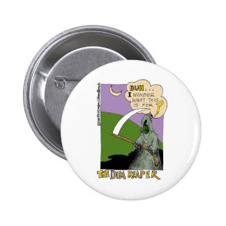 The Dim Reaper Funny Halloween Cartoon Gifts & Tee 6 Cm Round Badge