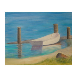 THE DINGHY Wood Wall Art