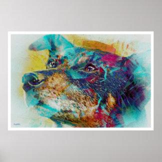 The Dingo wonderdog dreams Portrait Poster