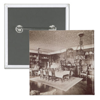 The Dining Room, Wickham Hall, Kent, 1897 15 Cm Square Badge