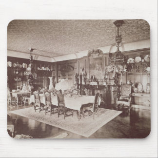 The Dining Room, Wickham Hall, Kent, 1897 Mouse Mat