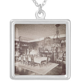The Dining Room, Wickham Hall, Kent, 1897 Square Pendant Necklace