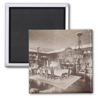 The Dining Room, Wickham Hall, Kent, 1897 Square Magnet