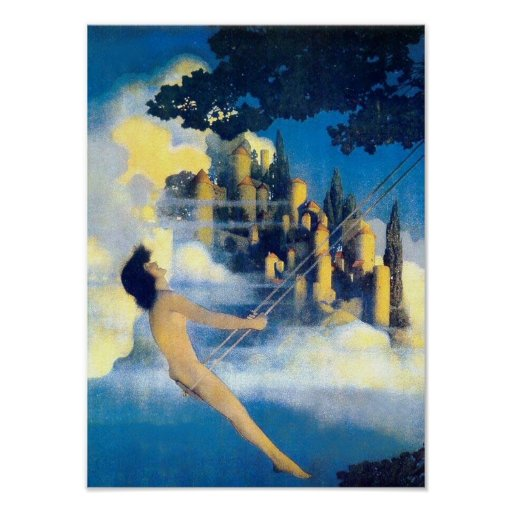 The Dinky Bird, Maxfield Parrish Fine Art Poster
