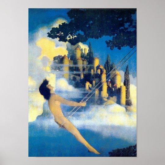 The Dinky Bird, Maxfield Parrish Fine Art Poster