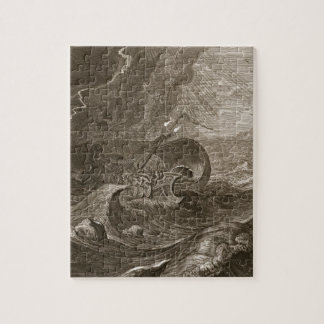 The Dioscuri Protect a Ship, 1731 (engraving) Jigsaw Puzzle