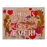 The Dirtiest Valentine's Card Ever! Postcard