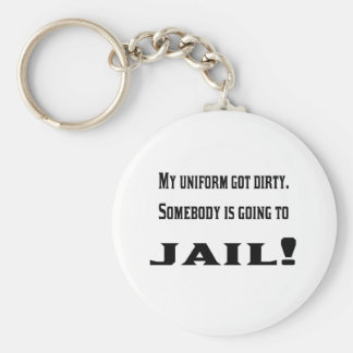 The dirty uniform basic round button key ring