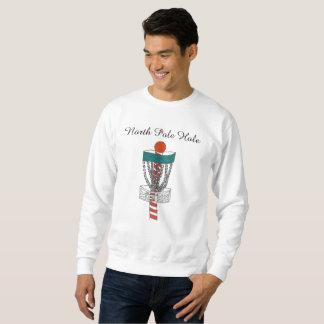 The disc golf North Pole Hole sweatshirt