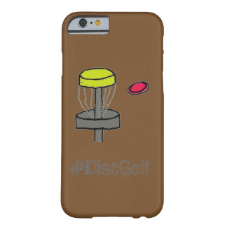 The #DiscGolf brown Iphone 6, 6S case disc golf
