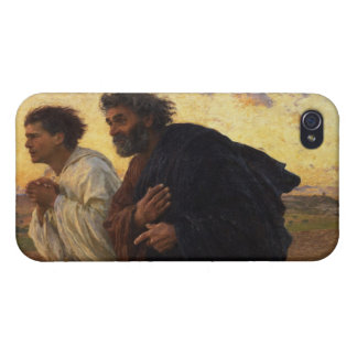 The Disciples Peter and John Running iPhone 4/4S Cover