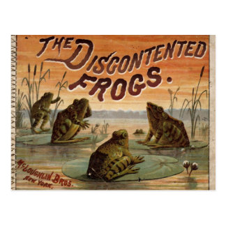 The discontented frogs 1895 post card