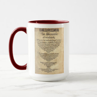 'The Discoverie of Witchcraft' - 1584 Mug