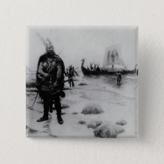 The Discovery of America by Leif Eriksson 15 Cm Square Badge