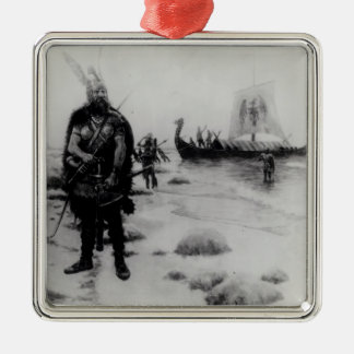 The Discovery of America by Leif Eriksson Christmas Ornament