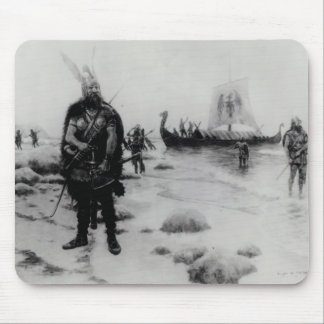 The Discovery of America by Leif Eriksson Mouse Mat