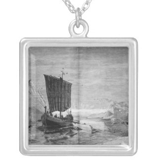 The Discovery of Greenland Silver Plated Necklace