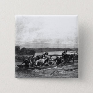 The Discovery of the Mississippi by de Soto 15 Cm Square Badge