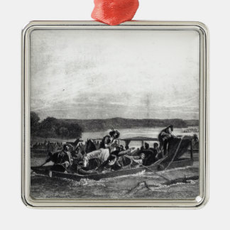 The Discovery of the Mississippi by de Soto Christmas Ornament