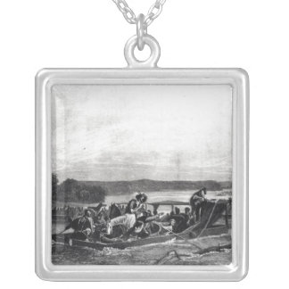 The Discovery of the Mississippi by de Soto Silver Plated Necklace