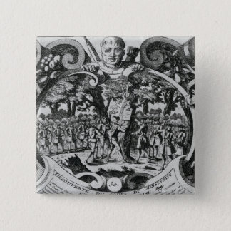 The Discovery of the Mississippi River 15 Cm Square Badge